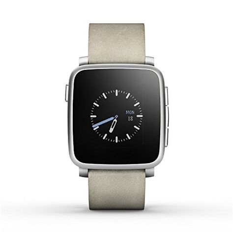 Pebble Time Steel Smartwatch for Apple/Android Devices – Silver (Certified Refurbished) #deals