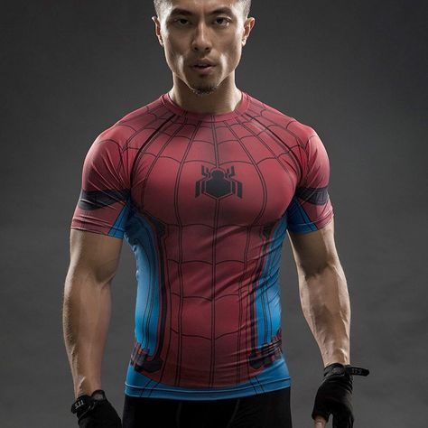 73340d3a Spiderman Compression Shirt Swing from the rooftops in the limited edition  moisture wicking Spider Man compression tee! - Wear-Resistant - UV  Protection ...