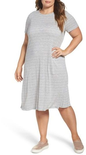 17a752c13b6 Plus Size Women s Two By Vince Camuto Delicate Stripe T-Shirt Dress  plus  size