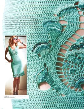 Mint dress #free #crochet #knit #patterns #charts #diagrams