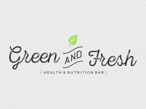 This Green and Fresh logo design is just something very speacial for your new personal business. All premade logos can be customized to your hearts