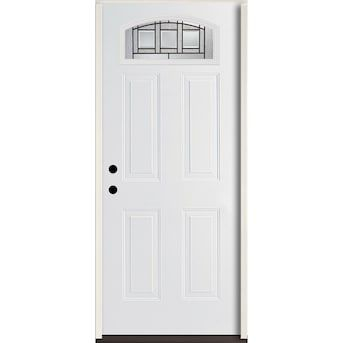 Reliabilt Craftsman 36 In X 80 In Fiberglass 1 4 Lite Right Hand Inswing Modern White Painted Prehung Single Door Lowes Com In 2020 Entry Doors Glass Decor Entry Door Handles Made of components for easy editing. pinterest