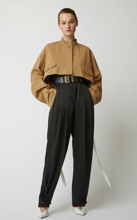Givenchy Cropped Cotton-Gabardine Blouson Jacket