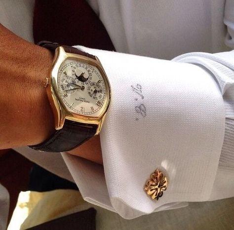 Cufflinks Gentleman's Essentials Patek Philippe, Sharp Dressed Man, Well Dressed Men, Tumblr Mode, Gentleman Mode, Fashion Night, Audemars Piguet, Stylish Men, Men Dress