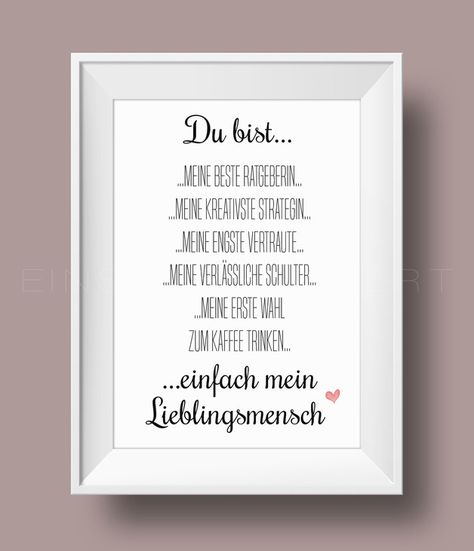 Digitaldruck - 'BESTE FREUNDIN' Kunstdruck /    von Einsaushundert via DaWanda.com