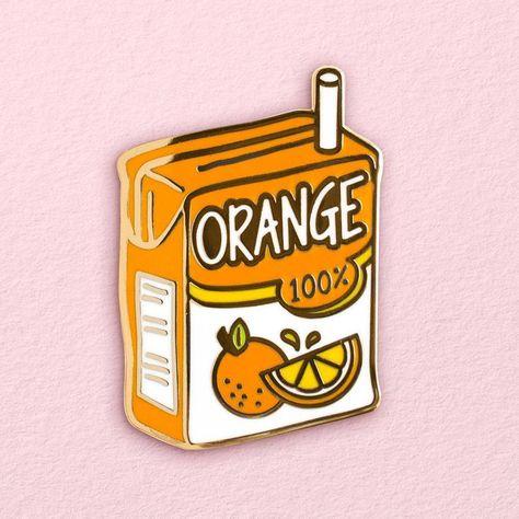 Pin and patches - Orange Juice Box Pin – Pin and patches Margarita Recipe With Orange Juice, Homemade Orange Juice, Orange Juice Cocktails, Orange Juice Cake, Orange Juice Smoothie, Juice Drinks, Melanie Martinez, Orange Juice Benefits, College Hacks