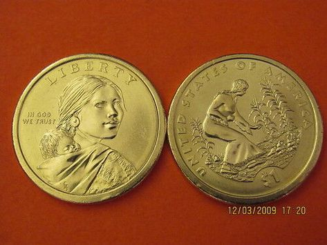 Sacagawea 2009  P/&D   BU  Mint State 2 Coins US One Dollars