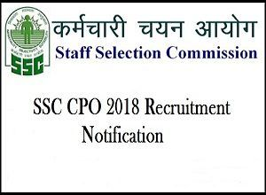 Ssc Cpo Recruitment 2019 2020 Delhi Police Si Vacancy Notification