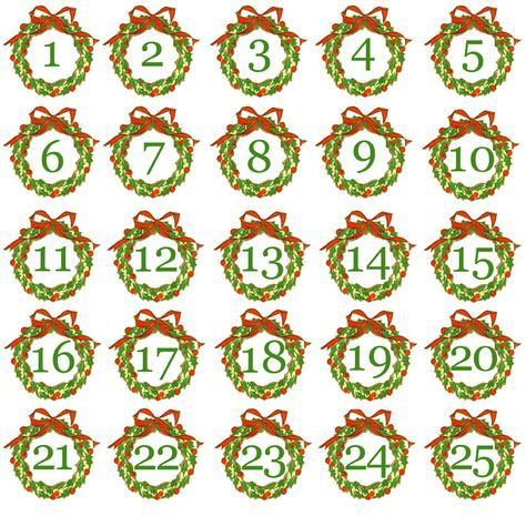 graphic relating to Christmas Numbers Printable referred to as Free of charge+Printable+Introduction+Calendar+Quantities introduction Calendar