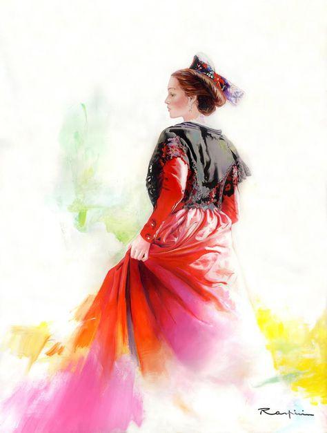 Danielle Raspini Peinture Dessin Arlesienne Arlesienne