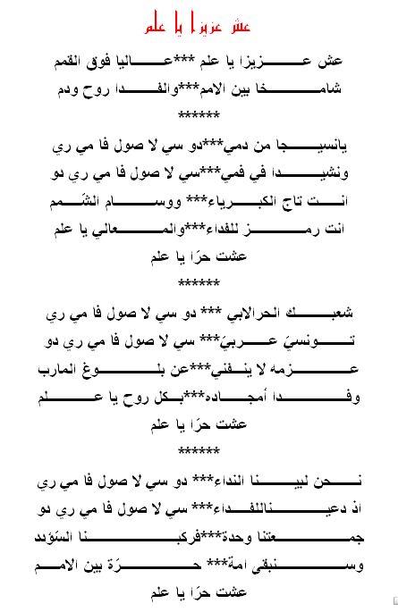 أنشودة عش عزيزا يا علم In 2021 Sheet Music