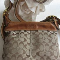 New Authentic Coach Designer Signature C Vachetta Tan Leather Buckled Saddle Handbag Purse The Classy Duffle Bag Brand Color Brown And Beige