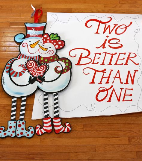 My Snow Couple Banner makes a great gift for Mom & Dad! www.lisafroststudio.com