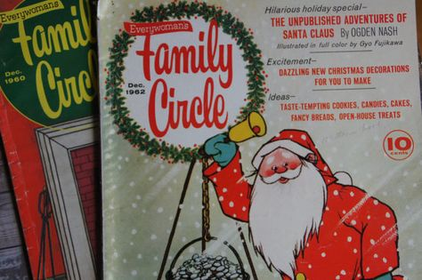 Family Circle Magazines ~ Set of 2 ~ December 1960's ~ With Stories Illustrated by Gyo Fujikawa