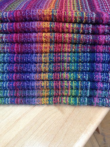 DebbieB's Handwoven Rainbow Candy Napkins