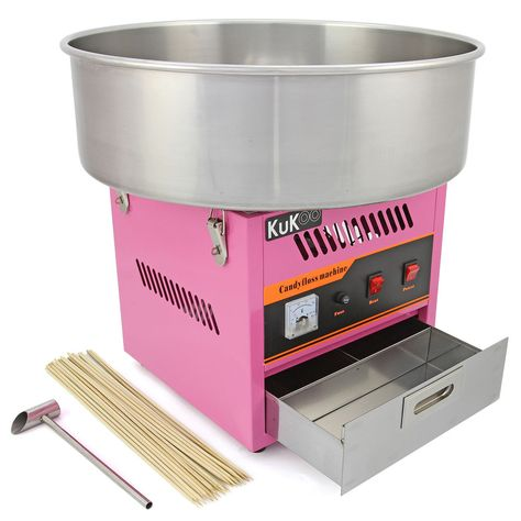 KuKoo Candy Floss Making Machine Cotton Candy Maker Sugar Party Fair FREE Sticks