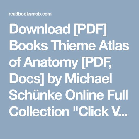 Of thieme pdf atlas anatomy