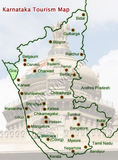 Tourist Places In Karnataka Map Image result for karnataka tourist maps | india | Tourist map