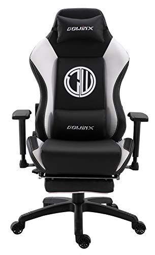 Dowinx Chaise Gaming Ergonomique Inclinable De Style De Course Avec Support Lombaire Pour Massage Fauteuil De Bureau Pou Fauteuil Bureau Fauteuil Chaise De Jeu