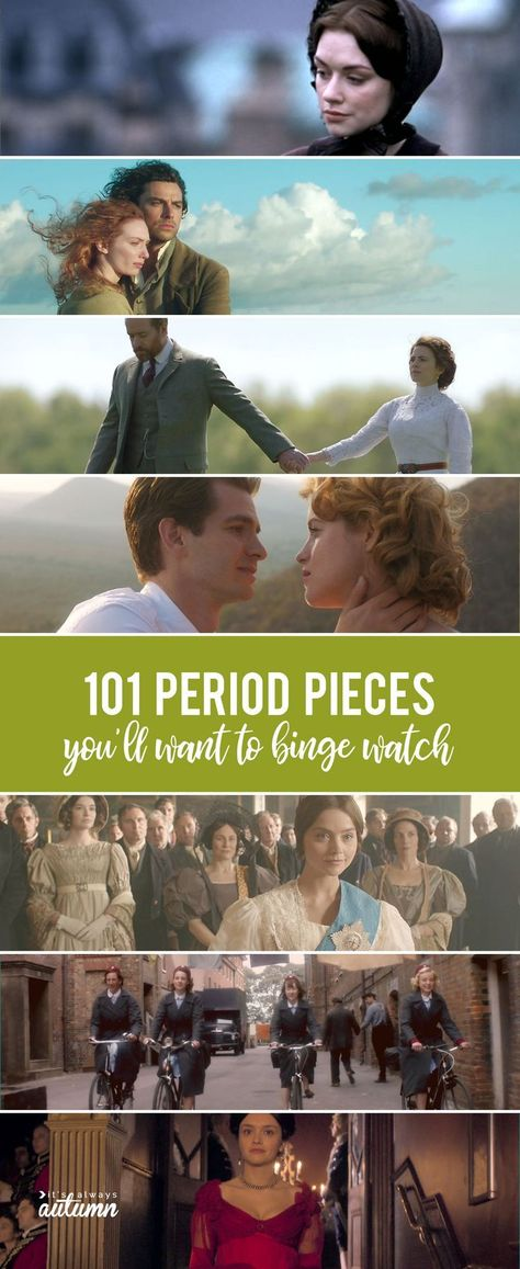 101 of the best period movies, period drama, historical romance movies and more!… 101 of the best period movies, period drama, historical romance movies and more! dramas 101 fantastic period movies you're gonna want to binge watch Best Period Movies, Best Period Dramas, Period Drama Movies, British Period Dramas, Period Piece Movies, Movies To Watch List, Tv Series To Watch, Movie List, Movie Tv