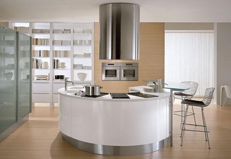 moderne und runde küche design küchen pinterest
