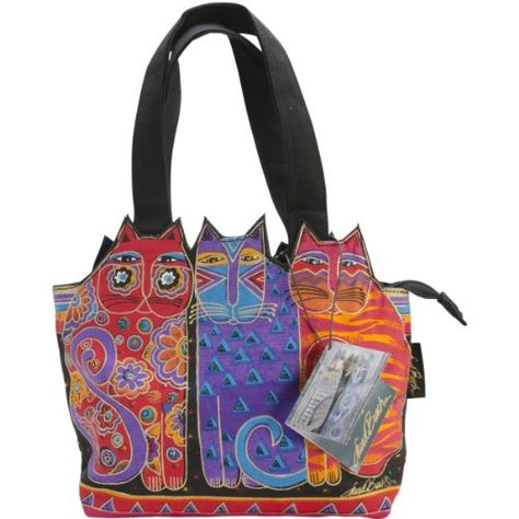 aafc80a1fe Laurel Burch TRES GATOS Medium Tote Bag Three Cats     Click on the image  for additional details.