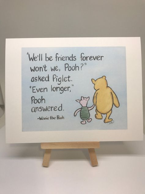 Winnie the Pooh card gone from sight quote miss you card