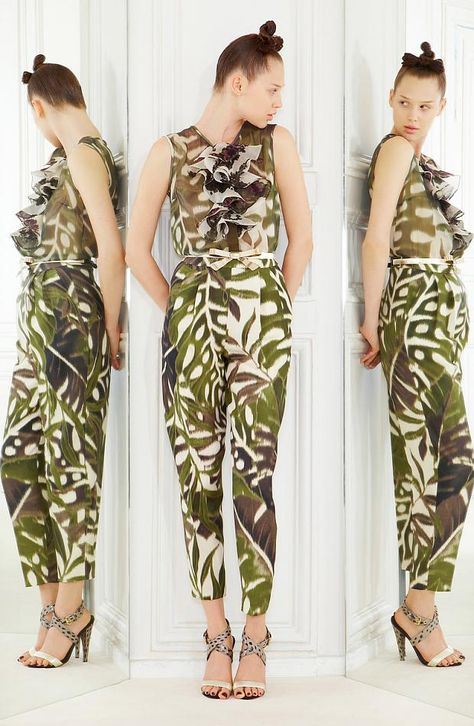 {RESORT 2013} Giambattista Valli with a jungle them...tropical and animal prints #fashion