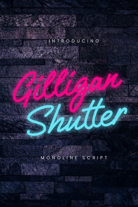 Gilligan Shutter Monoline Font