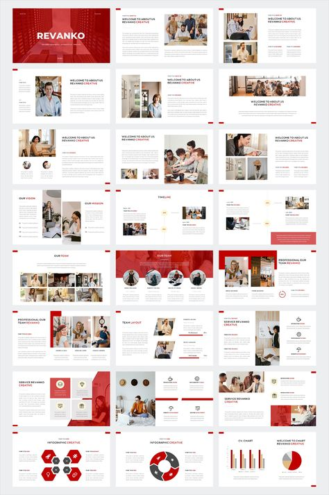 Clean Business PowerPoint Template. 45 Slides