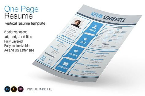 One Page Resume by 8Link on @mywpthemes_xyz Best Resume - simple one page resume template