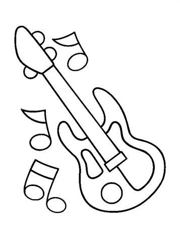 Kids N Fun Com 62 Coloring Pages Of Musical Instruments Music Coloring Musical Instruments Drawing Musicals