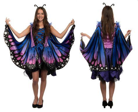 c7bdd6a75b648a Damen Schmetterling Kostüm Verkleidung für Karneval Fasching Halloween  Party, Mottoparty, Verkleiden