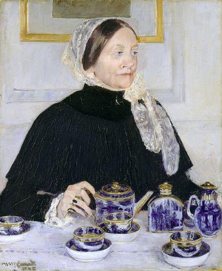 Mary Cassatt (American, 1844–1926). Lady at the Tea Table, 1883–85.