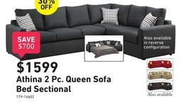 Pleasing Athina 2 Piece Sectional With Left Facing Queen Sofa Bed Ibusinesslaw Wood Chair Design Ideas Ibusinesslaworg