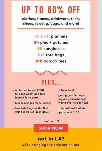 Pin On La Sample Sales Fashion Events