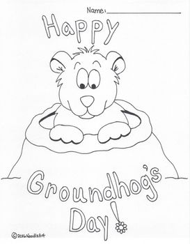 Groundhog Day Coloring Page Free Printable Groundhog Day