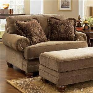 By Ashley Furniture Stafford Antique Chair And A Half 3730023 Living Room Chairs Chair And A Half Furniture