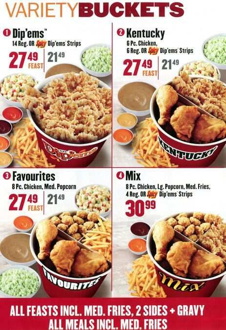 Bucket Kentucky Fried Chicken Menu Prices Kentucky Fried Chicken Menu Chicken Menu Chicken Bucket