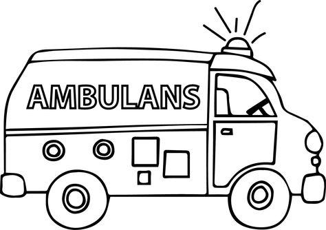 Okul Oncesi Ambulans Boyama Sayfasi Boyama Sayfasi Ciktisi Al Ambulans Boyama Resmi Sayfasi Kara Tasitlari Boyama S Itfaiyecilik Ambulans Aktivite Kitaplari