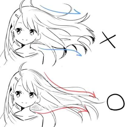 How To Draw Hair Flowing In The Wind In 2020 Drawings Anime Sketch How To Draw Hair