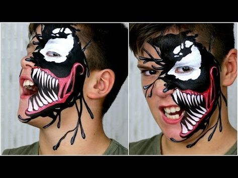 VENOM Black Spiderman \u2014 Halloween Makeup \u0026 Face Painting