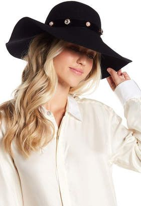 fa8f06399 Ted Baker London Crystal & Pearl Studded Wool Floppy Hat #hat ...