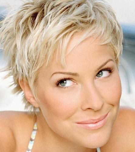 Short hairstyle just comb through while wet and finger comb it.