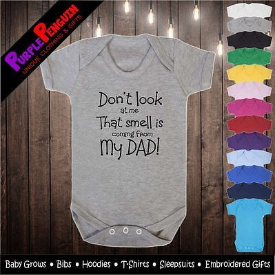 Don/'t Look At Me Funny Babygrow Vest Babies Gift Boy Girl Baby Clothing