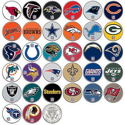 Nfl Team Logo Jfk Half Dollar Usa Football Coins Officially Licensed 32 Teams Nfl Teams Logos Nfl Teams Nfl Football Helmets