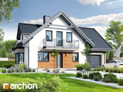Nowość: Dom w rododendronach 20 (N) - nowoczesny projekt domu, o funkcjonalnym układzie wewnętrznym.