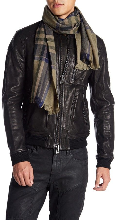 8a2377a0b96 His favorite cold weather neck wear, Belstaff Plaid Scarf | Style ...