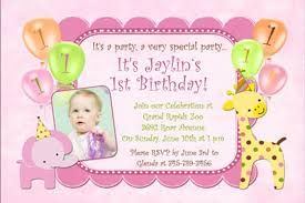 1st birthday invitation wording in