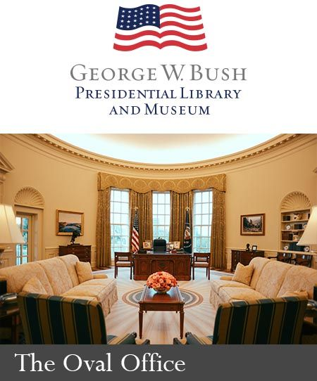 About The Permanent Exhibit The George W Bush Museumthe George W Bush Presidential Museum Offers A New With Images Bush Presidential Library Presidential Resolute Desk